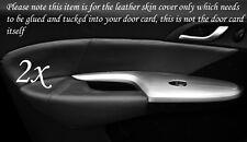 Negro Stitch encaja Honda Civic 06-12 2x Frontal Puerta Tarjeta Ribete Cuero cubre sólo
