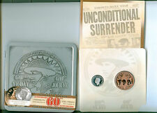 2005 CANADA 60'TH ANNIVERSARY VE DAY SILVER 5 CENT AND MEDAL SET MINT SEALED