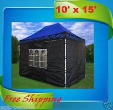 10'x15' Pop Up Canopy Party Tent EZ - Blue Flame - F Model Upgraded Frame