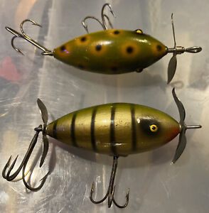 2 Vintage South Bend Baby Surf Oreno old fishing lures