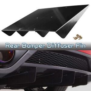 "22""x20"" Black ABS Universal Car Rear Bumper 4 Shark Fins Spoiler Wing Diffuser"