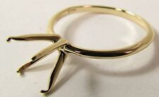 BEAUTIFUL NEW 14k YELLOW GOLD WEDDING RING BAND SETTING ONLY
