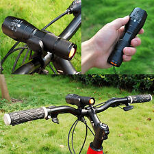 New 10000LM T6 LED 18650 Zoomable Flashlight Torch Bike Light + Cycle Clip Mount