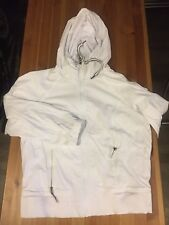 NWT / $90 ~ MSP by Miraclesuit Womens hooded lined Jacket, White  Lg