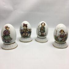 Vintage Berta Hummel Schmid Annual Porcelain Egg Set West Germany 1980's Easter