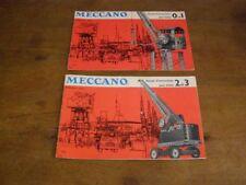 2 anciens manuels d'instruction Meccano