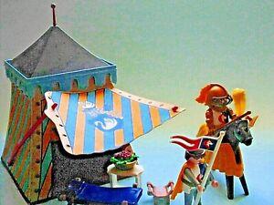 Playmobil 3654 Ritter  mit Knappe Turnierzelt Pferd