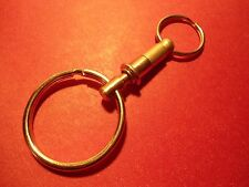 BRASS  QUICK RELEASE  KEY RING