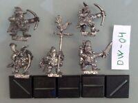 Dogs of War - Lumpin Croop's Halfling Archers x5, Command Group, Metal, Oop DW04