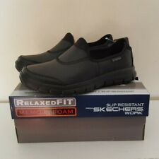 Skechers Womens Sure Track Work Relaxed Fit Slip On Comfort Shoes Black Sz 8 US