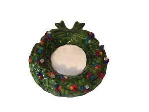Vintage Christmas Tampa Bay Mold Ceramic Christmas Wreath