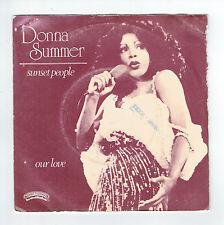 "Donna SUMMER Vinyl 45T 7"" SUNSET PEOPLE - OUR LOVE -CASABLANCA 013 F Rèduit RARE"