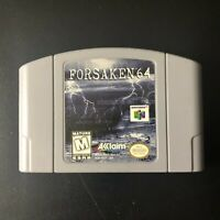 Forsaken 64 Video Game (Nintendo N64, 1998) Used & Tested
