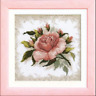 EMBROIDERY KIT COUNTED CROSS STITCH KIT CHARIVNA MIT PINK ROSE FLOWERS A-022