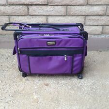 "Tutto Sewing Machine Serger Storage Case on Wheels 4220PMA-M 20"" Purple Rolling"