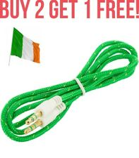 Green Braided Extra Strength 3.5mm to 3.5mm Car Aux Auxiliary Stereo Radio Cable