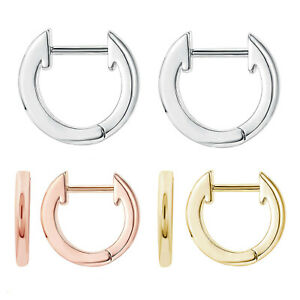Women's & Girl's Sterling Silver Small 11mm Hoop Huggies Earrings