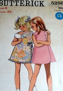 LOVELY VTG 1960s GIRLS DRESS BUTTERICK Sewing Pattern 6