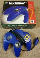 Official Nintendo 64 N64 OEM Authentic blue Controller & Box Only Tested