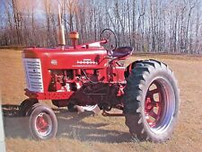 "ART POSTER Vtg IH McCormick Farmall 400 Red TRACTOR 20 x 16"" Ralph LaPlant Photo"