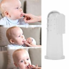1PC Kids Baby Infant Soft Silicone Finger Toothbrush Teeth Rubber Massager Brush