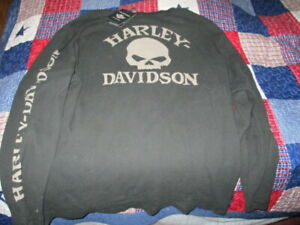 XXL HARLEY DAVIDSON HENLEY WILLIE G SKULL LONG SLEEVE NWT THERMAL BRAND NEW
