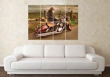Grande Retro Motocicleta Harley Davidson Impresión De Imágenes De Pared Arte Cartel De Deportes
