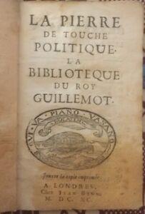 PERIODIQUE DE JANVIER 1690. LA BIBLIOTHÈQUE DU ROY GUILLEMOT.
