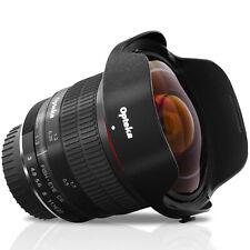 Opteka 6.5mm f/3 HD Aspherical Fisheye Lens Nikon F DX FX Mount DSLR Cameras