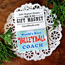Decowords Gift Magnet * World's Best Volleyball Coach *Pkg'd Fridge Magnet New