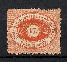 SKAB 066  Austria DONAU DAMPFSCHIFFAHRTS GESELLSCHAFT 1867 MNG PERF 9.5 Mich 1B