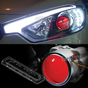 Devil Eye Head Light Projector Lens Red LED Module For KIA 2013-2018 Cerato K3