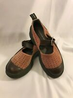 GIRAUDON SPORT Leather Cross Strap Shoes Size US 6  EU 36 Mary Janes Brown Pink