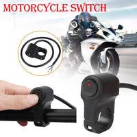 Motorcycle Handlebar On/Off Switch Waterproof For Fog Spot Light Headlight 12V