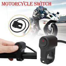 Motorcycle Handlebar On Off Switch Waterproof For Headlight Fog Spot Light Black