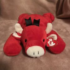 "Vintage 1997 TY Pillow Pal ""Red"" The Bull 14"" w/Tag"
