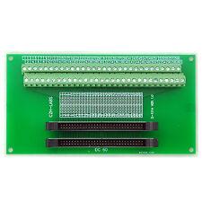 IDC-60 2x30pins 2.0mm Dual Male Header Breakout Board, Screw Terminal Connector.