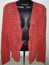 A.N.A NWT Womens Plus Brownish Red Knitted Cover Sweater Top Size 1X
