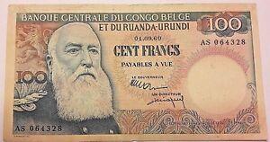 100 Francs Congo 100 Frank Congo 1960 TTB-SUP