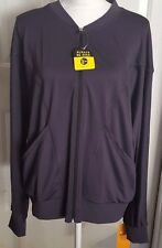 Women's Gray Champion Reflective Zipper Front Athlethic Jacket Plus Size XXL
