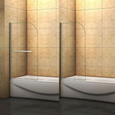 180?Pivot 800x1400mm Over Bath Shower Screen Door Panel 6mm Glass