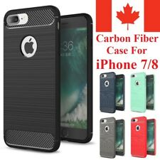 For iPhone 7 & iPhone 8 Plus Case - Shockproof Carbon Fiber Soft TPU Armor Cover