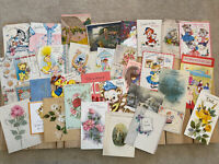 Vintage Greeting Cards Lot- 1940s And Up. 35 Cards- Ephemera- Mixed Lot- B