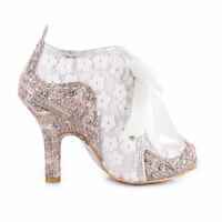 NEW IRREGULAR CHOICE *ABIGAILS THIRD PARTY*WHITE/BROWN(AH)FLORAL SHOE BOOTS-UK 3