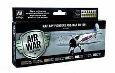 Val71149 Set ad aria modello RAF & FAA giorno FIGHTER pre GUERRA A 1941 Vallejo PAINT SET