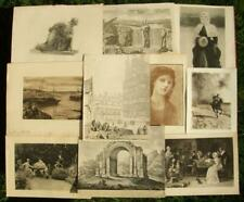 10 x antique collectors, decorators lot engravings, etchings, prints 1800-1920's