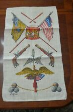 New listing Vintage Linen Kitchen Towel with a scene of Bicen 00006000 tennial