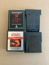 Lot of 4 Atari 2600 Games - Frogger, Combat, Vanguard, Football - TESTED!!!!