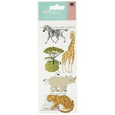 Touch Of Jolee's Dimensional Stickers-safari Animals