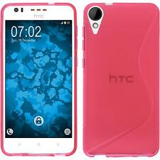 Silicone Case HTC Desire 825 S-Style hot pink + protective foils